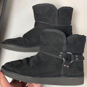 Arizona black short boots Sz 8